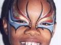 Mardi Gras masked girl red-ws